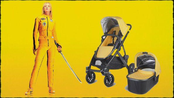 'La novia' y el carrito que hemos encargado, un UppaBaby Vista amarillo